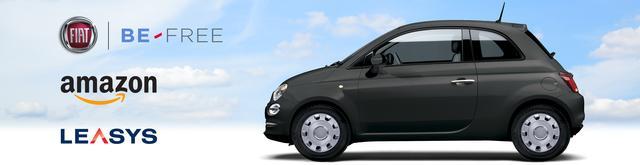 Fiat 500 su Amazon.it con l'innovativa formula BE-Free